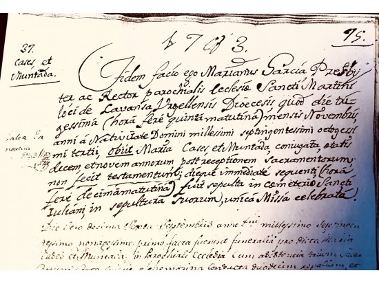 Certificados de archivos parroquiales