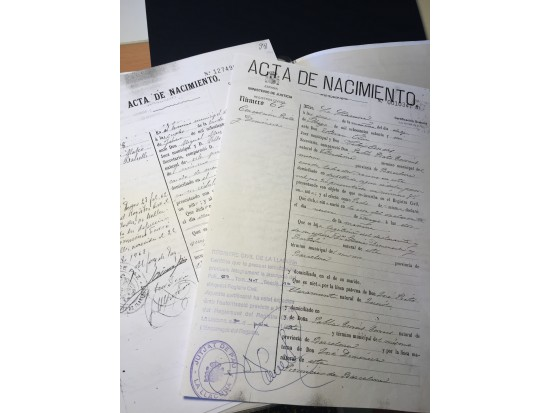 Certificat de naixement