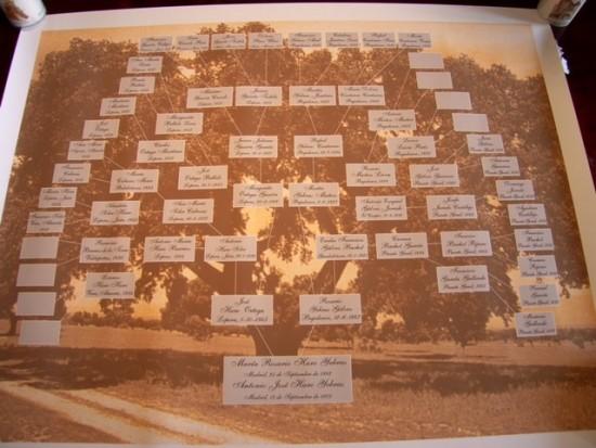 Árbol genealógico para bodas con 14 documentos.